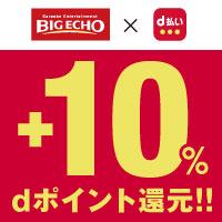 【ビッグエコー×d払い】 dポイント+10%還元キャンペーン!
