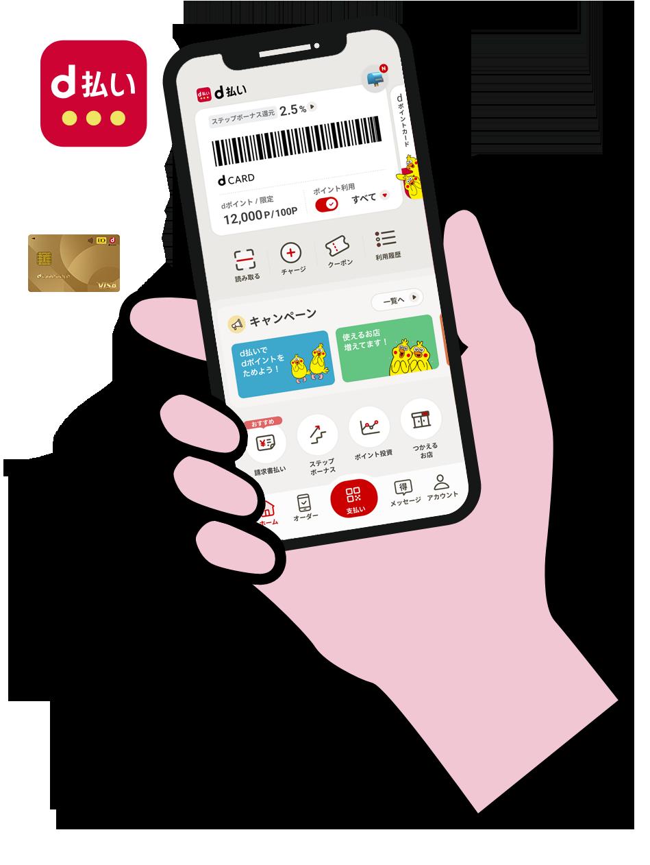 クレジット カード 払い d
